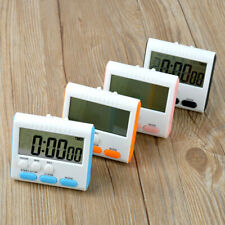 New LCD Digital Magnetic 24 Hours Large Alarm Kitchen Timer Count Up Down Clock