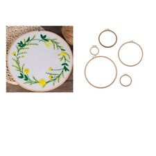 Wooden Round Embroidery Cross Stitch Ring Hoop Frame Hand Sewing Tool DIY