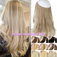 Thick One Piece Invisible Wire Headband No Clip in Remy Human Hair Extensions MF