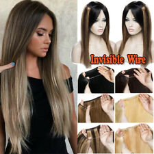 Thick Invisible Wire Headband 100% Remy Human Hair Extensions One Piece Mix USPS