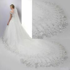 Cathedral Wedding Bridal Veil Long Lace Edge With Comb Wedding Accessories