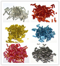 1500pcs 2x7mm Jewelry Findings DIY Loose Czech Glass Tube Spacer Seed Beads
