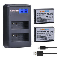 LP-E10 Battery+ LCD charger for Canon 1100D 1200D 1300D Rebel T3 T5 KISS X50 X70