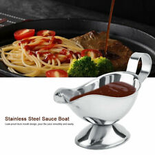 Stainless Steel Gravy Boat Steak Sauce Juice Pouring Tool Silver 5oz/8oz/10oz