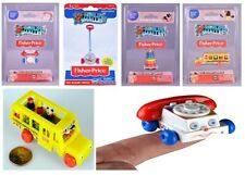 World Smallest Fisher Price Classic Chatter Phone Stack School Bus Ages 8+ Toy