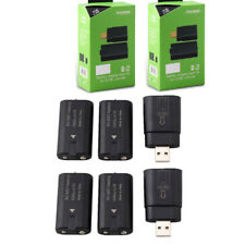 4Pcs Rechargeable Battery Pack + 2 USB Charging Dock Kit For XBOX ONE Controller