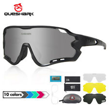 Polarized Cycling Glasses Sunglasses 4 Lens UV400 Bike Goggles For Unisex New