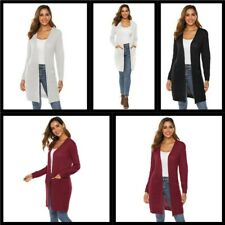 Loose Womens Knitted Cardigan Outwear Jacket Long Casual Sweater Coat