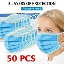 50pcs Disposable Face Mask Filters Bacteria 3-Layers Beauty Medical Masks FQ