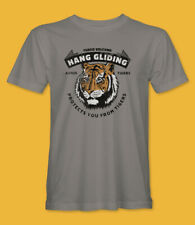 Retro Hang Gliding Avoids Tigers Funny T-Shirt by Turbo Volcano *NEW*