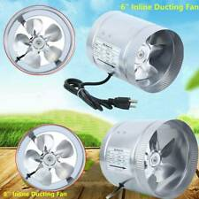 """6"""" 8"""" Inch Duct Booster Inline Blower Fan Blower Exhaust Ducting Cooling Vent"""