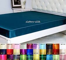 """1 PC 16MM 100% PURE SILK SATIN 16"""" POCKET EXTRA DEEP FITTED SHEET ALL SIZE"""