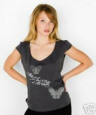 NEWTG American Apparel yoga butterfly Gandhi shirt top