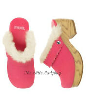 NWT Gymboree GINGERBREAD GIRL Pink Faux Fur Clogs Baby Girls Shoes Size 5