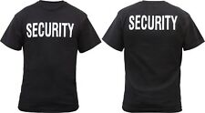 Black Official Issue Security Double Sided Raid Bouncer T-Shirt