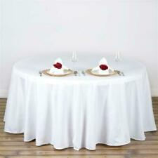 10 Pack 120 Inch Round Polyester Tablecloths 25 Colors High Quality Made USA