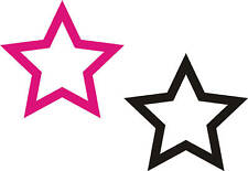 10 Large Hollow Star stickers- great for walls or cars