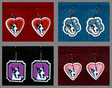 Harlequin Great Dane Dog Handmade Jewelry Earrings