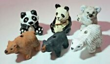 Peruvian Ceramic Brown Black Polar Panda Koala Bear Bead Single OR Lot 5 OR 10