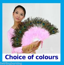 Peacock Feather Hand Fan Dance Costume Party Decoration AA14
