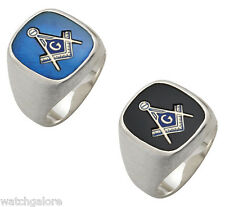 Men's 0.925 Sterling Silver or Vermeil Gold Plated Masonic Freemason Mason Ring