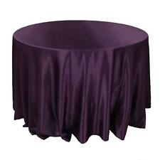 "15 Pack 90"" Round Wedding Satin Tablecloths 30 Colors Table Overlay Made in USA"