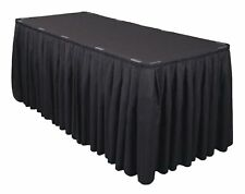10 Polyester Table Skirts 21ft Banquet Round Table Skirting 3 Colors Made in USA