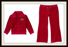 NWT Gymboree ALPINE SWEETIE Red Velour Hoodie Jacket & Pant Girls Size 3 4 NEW