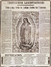 3238 Vintage Poster.Powerful Graphic Design.Virgen Guadalupe. Mexico Decor. Art