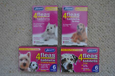 JOHNSON'S 4FLEAS TABLETS FOR ALL SIZE OF DOGS BRAND NEW