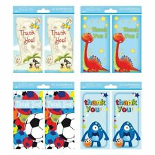 16 x Boys Male Thank You Cards 4 Different Designs to Choose
