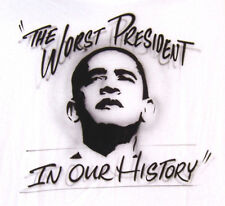 Anti OBAMA The WORST PRESIDENT In Our HISTORY Tea Party T-Shirt 2XL or 3XL