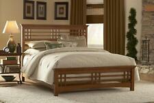 Avery Fashion Bed, Oak Finish