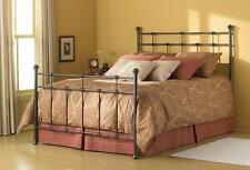 Dexter Fashion Bed with Frame, Hammered Brown Finish