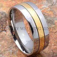 Titanium Wedding Band Ring 14K Gold Jewelry Size 6-13