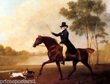 GEORGE IV WHEN PRINCE OF WALES RIDING HORSE 1791 PAINTING BY GEORGE STUBBS REPRO