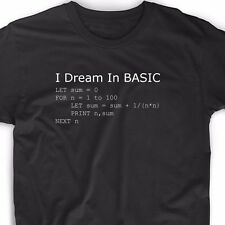 Basic Programming Language Computer T Shirt Retro Video Game Geek Funny Nerd Tee