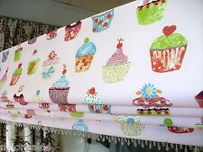 PINK ROMAN BLIND - CUPCAKE PATTERN -MADE TO MEASURE-MTM-NOVELTY DESIGN-KIDS