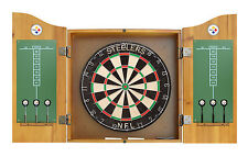 NFL Logo Dart Board Cabinet Set With Darts & Flights - 30 Teams Available NEW