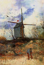"Vincent Van Gogh- Le Moulin de la Galette - 20""x26""   on Canvas"
