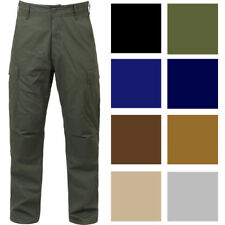 Tactical BDU Cargo Pants, Military Uniform Trousers Army Fatigues Solid 6-Pocket