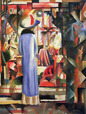"August Macke -Large bright showcase -20""x26"" Art on Canvas"