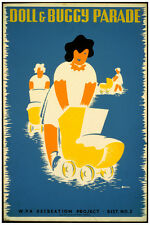 2676 Doll and buccy parade WAP recreation project vintage POSTER. Decor Art.