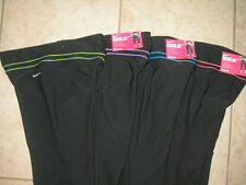 NWT WOMEN'S NIKE BE STRONG REGULAR DRI FIT POLY FITNESS WORKOUT CAPRI  $50