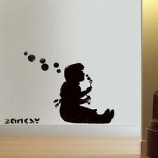 Banksy Girl Blowing Bubbles Stencil Reusable art painting decor Ideal Stencils