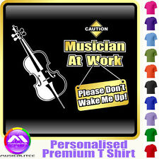 Cello Dont Wake Me - Personalised Music T Shirt 5yrs - 6XL by MusicaliTee