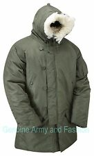 US MILITARY N3B N-3B POLAR SNORKEL PARKA JACKET - OLIVE GREEN