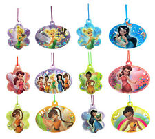 "Disney Fairies Tinker Bell Fairy Friends Puffy Glitter Necklaces 2"" Party Favors"