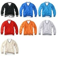 Mens V Neck Golf Pullover Windbreaker Jacket Windshirt Wind resister Waterproof