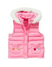 NWT Gymboree COZY CUTIE Pink Dot Puffer Ski Vest Jacket Coat Girls 7-8 10-12